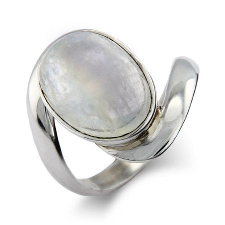 Vampire Inspired Sterling Silver Moonstone Ring | Eve's Addiction®