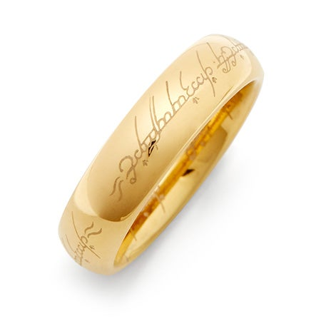 The One Ring Inspired Gold Tungsten Ring | Eve's Addiction®