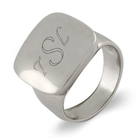 Engravable Cushion Style Class Ring For Women | Eve's Addiction®