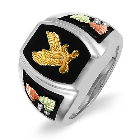 Black Hills Gold Men's Ring with Onyx Eagle | Eve's Addiction®