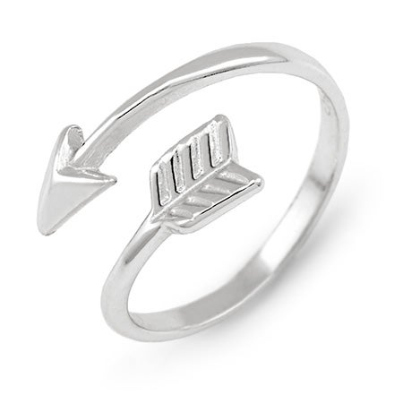 Arrow Midi Sterling Silver Ring | Eve's Addiction®