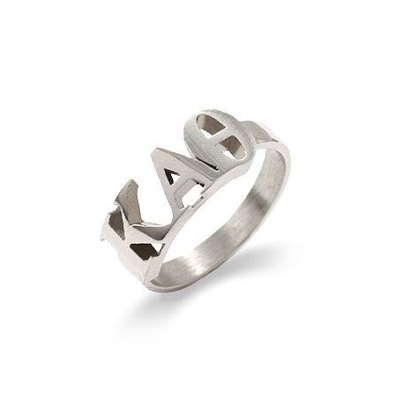Kappa Alpha Theta Sterling Silver Letter Ring | Eve's Addiction®