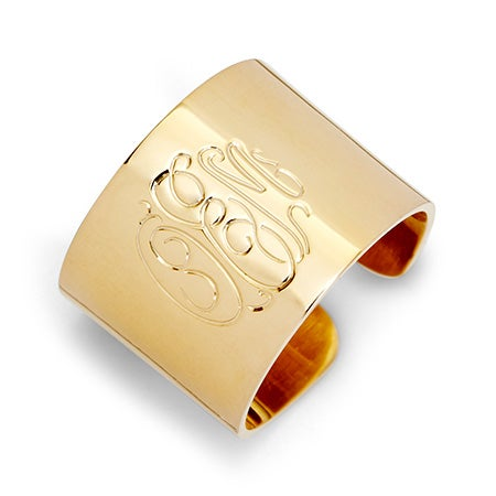 Gold Vermeil Monogram Cuff Ring | Eve's Addiction®