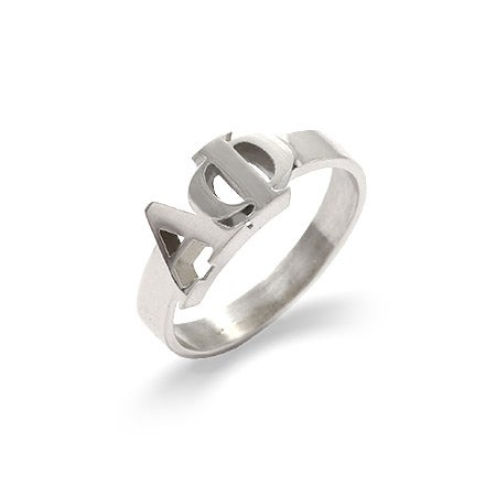 Alpha Phi Sterling Silver Letter Ring | Eve's Addiction®