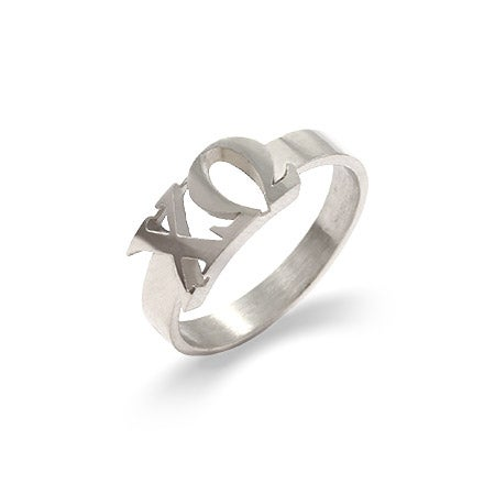 Chi Omega Sterling Silver Letter Ring | Eve's Addiction®