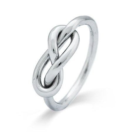 Infinity Knot Sterling Silver Ring | Eve's Addiction®