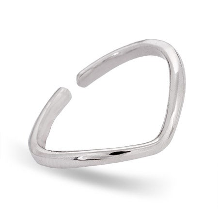 Sterling Silver Chevron Midi Ring | Eve's Addiction®