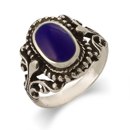 Sterling Silver Vintage Design Lapis Ring | Eve's Addiction®