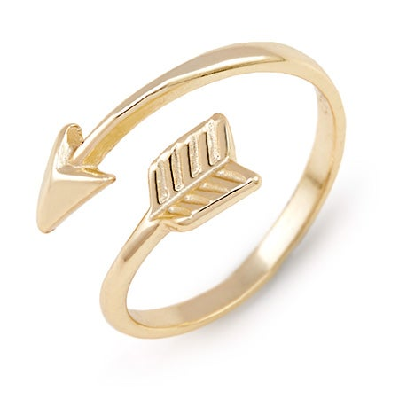 Gold Arrow Midi Ring | Eve's Addiction®