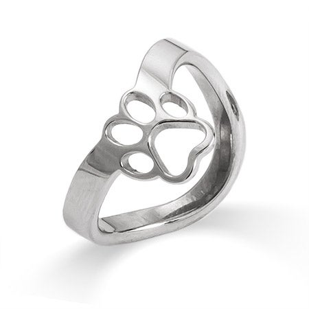 Paw Print Cut Out Thumb Ring | Eve's Addiction
