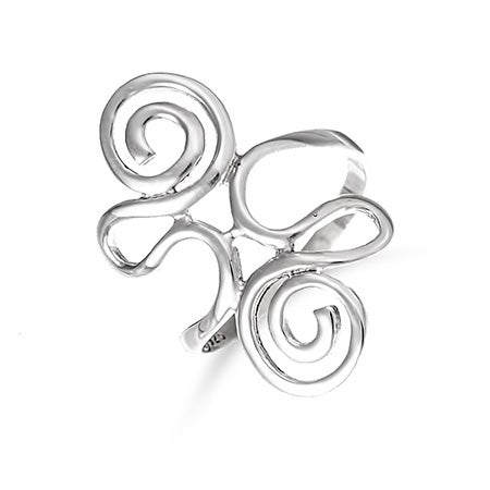 Sterling Silver Swirling Ring