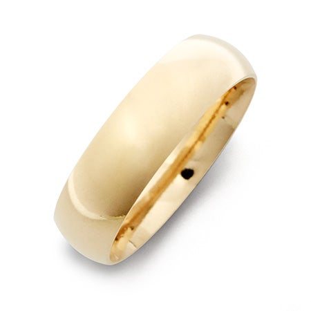 Classic 6mm Gold Plated Wedding Band
