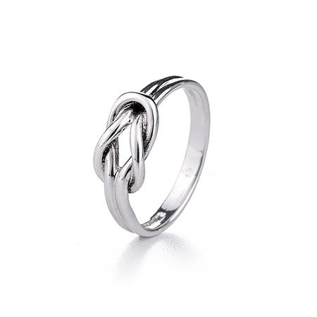 Sterling Silver Petite Love Knot Ring | Eve's Addiction®