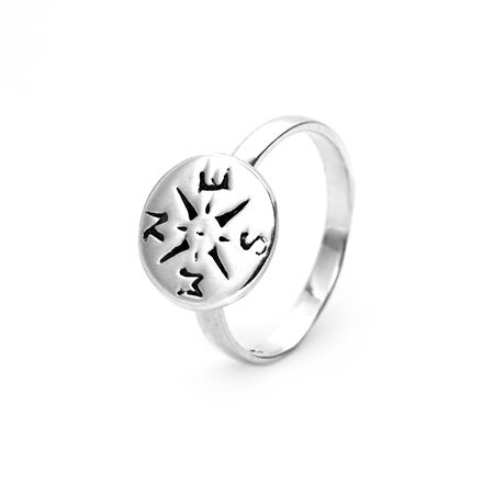 Compass Ring in Sterling Silver | Eve's Addiction®