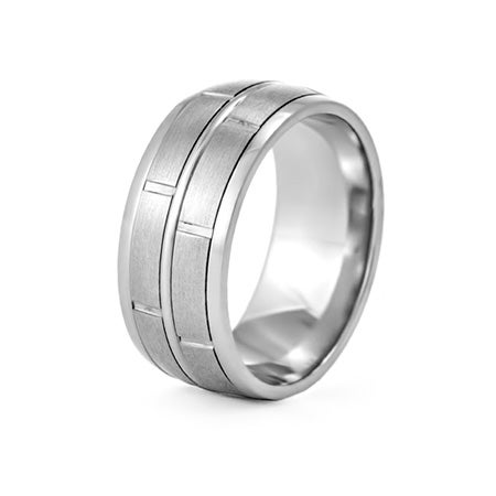 Men's Modern Style Engravable Wedding Band | Eve's Addiction®