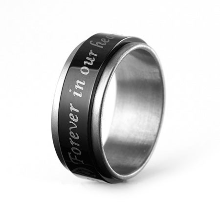 Forever In Our Hearts Bereavement Spinner Ring | Eve's Addiction®