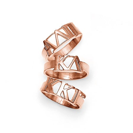Greek Letter Sorority Ring in Rose Gold | Officially Licensed Product