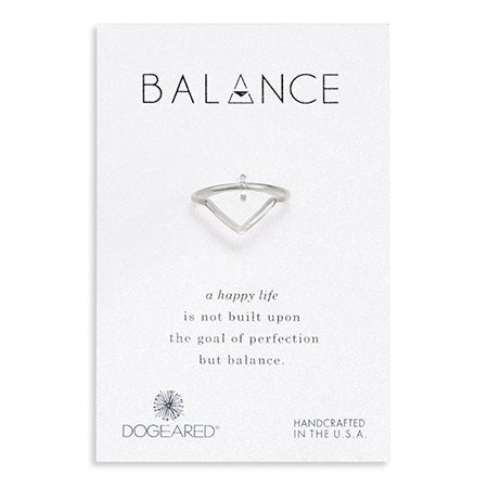 Dogeared Sterling Silver Balance V Ring