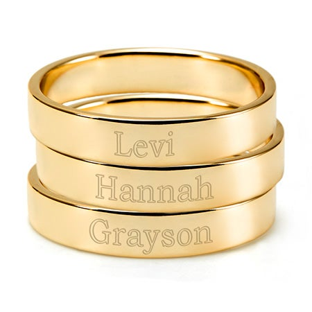 Gold Stackable 3 Ring Set | Stackable Mother Rings