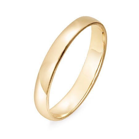 Engravable 14K Gold 3mm Wedding Band | Eve's Addiction®