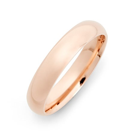 4mm Engravable 14 Karat Rose Gold Band For Women And Men