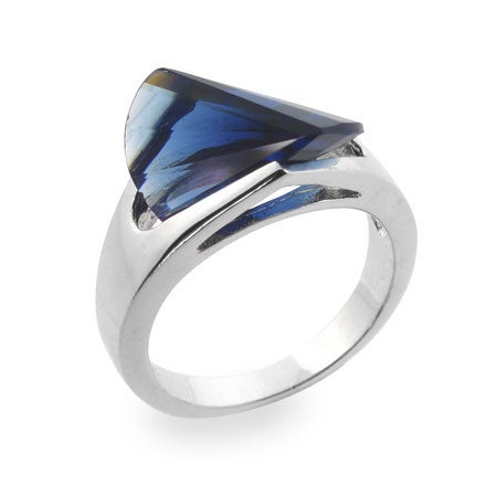 Sapphire Blue CZ Ring | Eve's Addiction