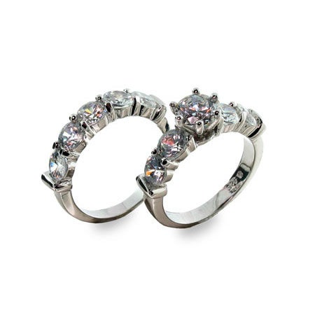 Designer Inspired Elegant Diamond CZ Ring Set | Eve's Addiction®