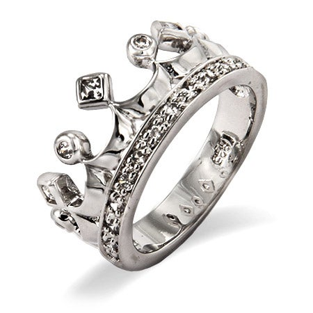 Sparkling Cubic Zirconia Crown Jewels Ring | Eve's Addiction®