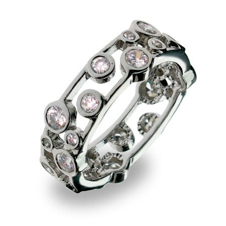 Designer Style Cubic Zirconia Bubbles Band | Eve's Addiction®