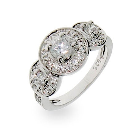 Designer Inspired Vintage Love Sterling Silver CZ Ring | Eve's Addiction®