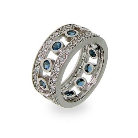 Sterling Silver Sapphire Jazz Club Band | Eve's Addiction®