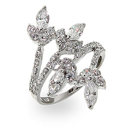 Marquise Flower Wrap Ring | Eve's Addiction®