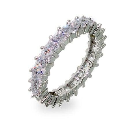 Sparkling Lavender Princess Cut Eternity Band | Eve's Addiction®