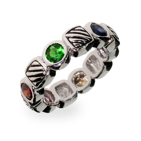 Designer Inspired Multi Color CZ Cable Ring | Eve's Addiction®