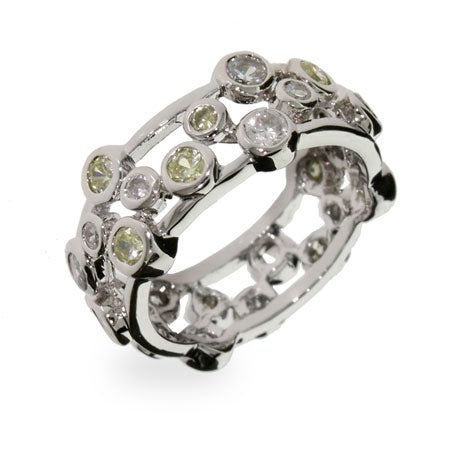 Designer Style Peridot Bubbles Sterling Silver Ring | Eve's Addiction®