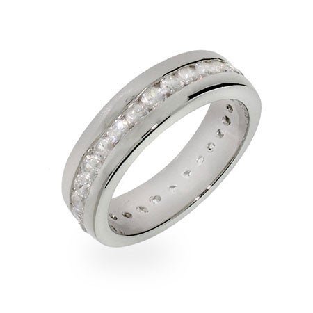 Channel Set CZ Eternity Band | Eve's Addiction®