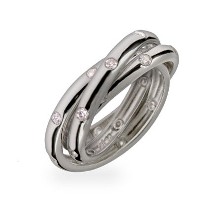 Designer Style Twinkling Triple Roll Ring | Eve's Addiction®