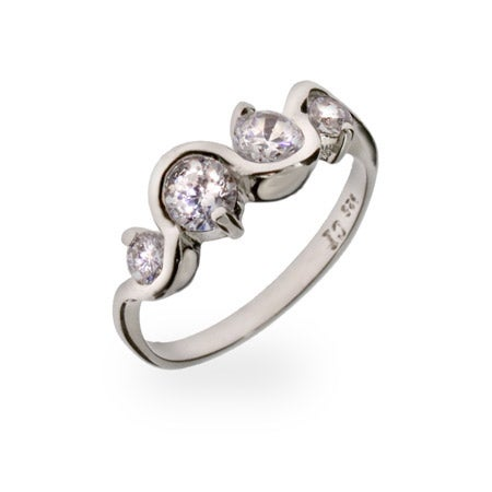 Journey Swirl CZ Sterling Silver Ring | Eve's Addiction®