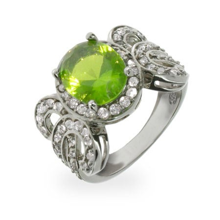 Vintage Oval Cut Emerald CZ Sterling Silver Ring | Eve's Addiction®