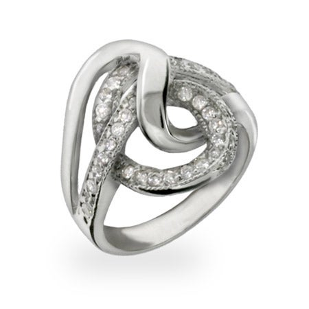 modern style cz swirl sterling silver ring s addiction 174