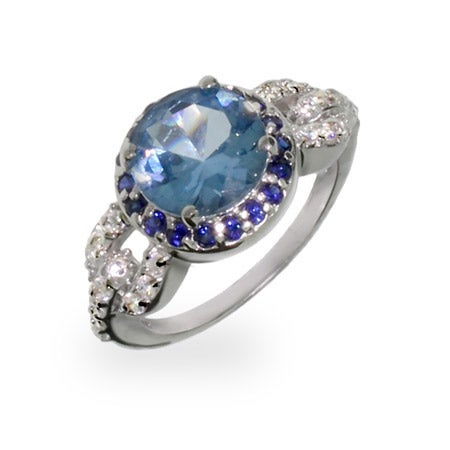 Two Tone Sapphire CZ Vintage Style Ring | Eve's Addiction®