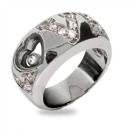 Designer Inspired Floating CZ Love Ring | Eve's Addiction®