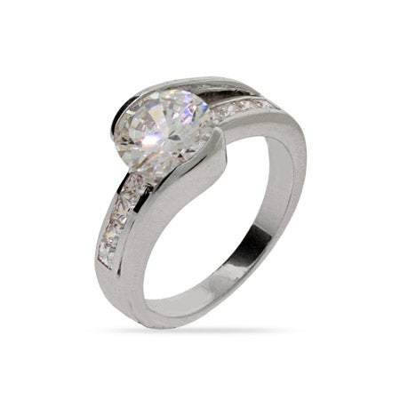 Beautiful 2 Carat Brilliant Cut CZ Engagement Ring | Eve's Addiction®