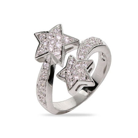 Shooting Stars Pave CZ  Ring | Eve's Addiction