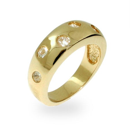 Designer Style Gold Vermeil Twinkling Ring   Eve's Addiction®
