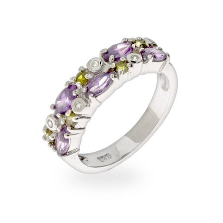 Peridot & Amethyst CZ Ring | Eve's Addiction