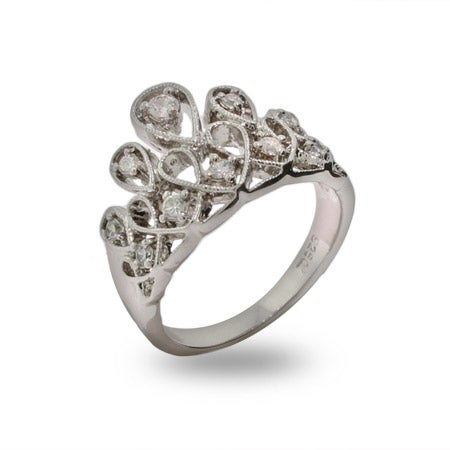 Crown of Jewels Sterling Silver and CZ Ring | Eve's Addiction®