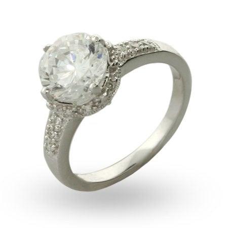 Fergie's Replica Cut Crown Set CZ Engagement Ring | Eve's Addiction