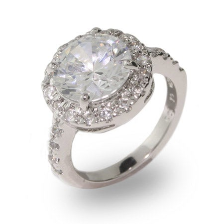 Replica Round Brilliant Cut CZ Engagement Ring | Eve's Addiction®