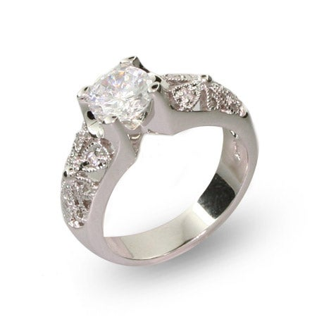1.25 Carat Vintage Style CZ Engagement Ring | Eve's Addiction®